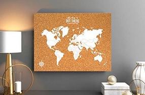 Corcho mapamundi para tu pared