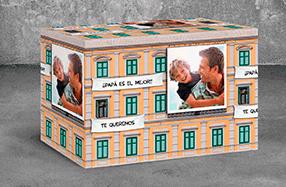 Papel de regalo personalizado modelo edificio