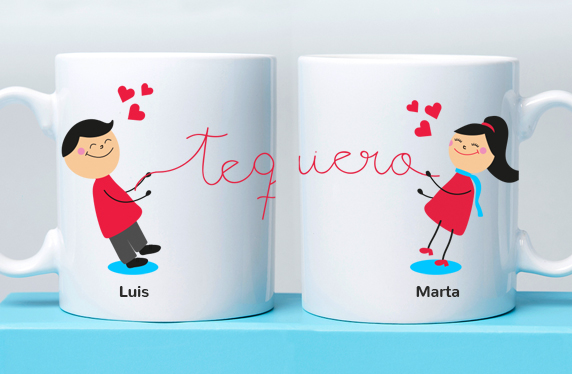 Taza personalizada para demostrar tu amor