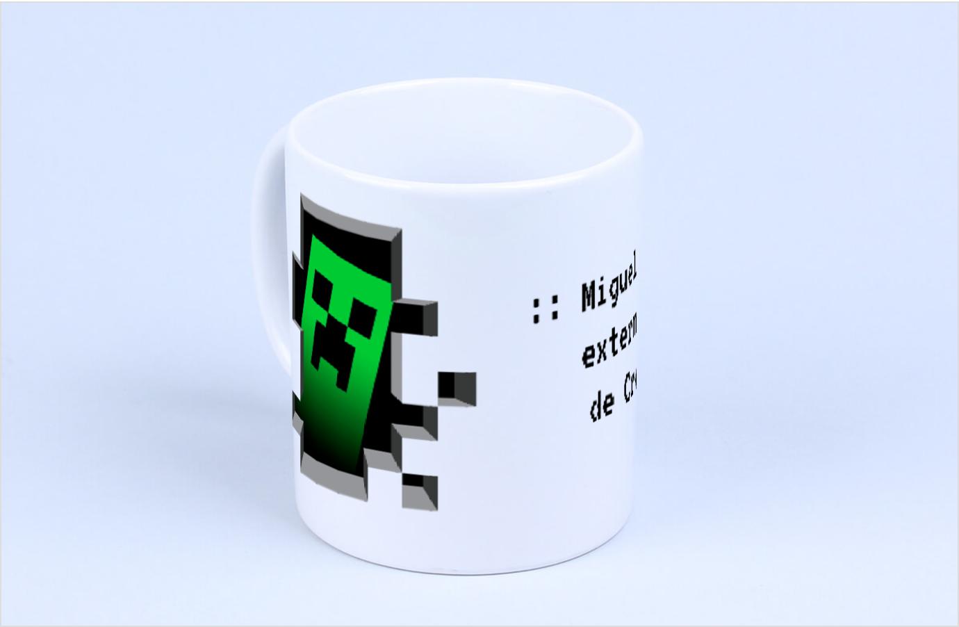 Taza personalizable para amantes de Minecraft en Regalador.com