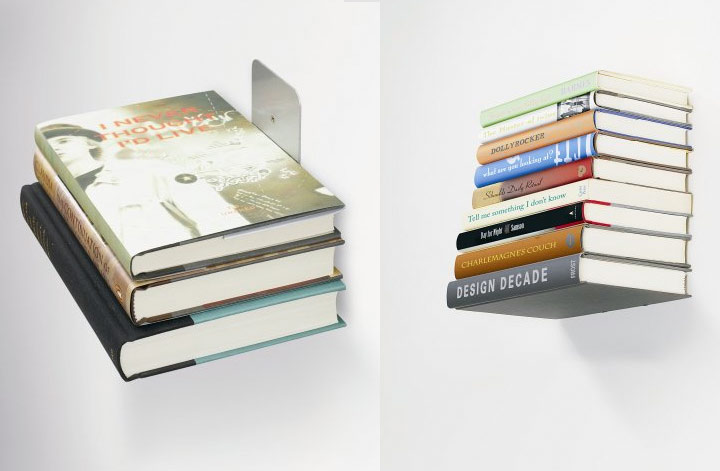 Estante invisible para libros