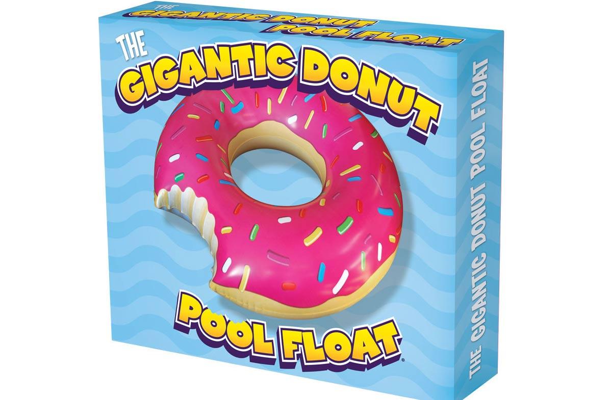 Flotador con forma de donut gigante