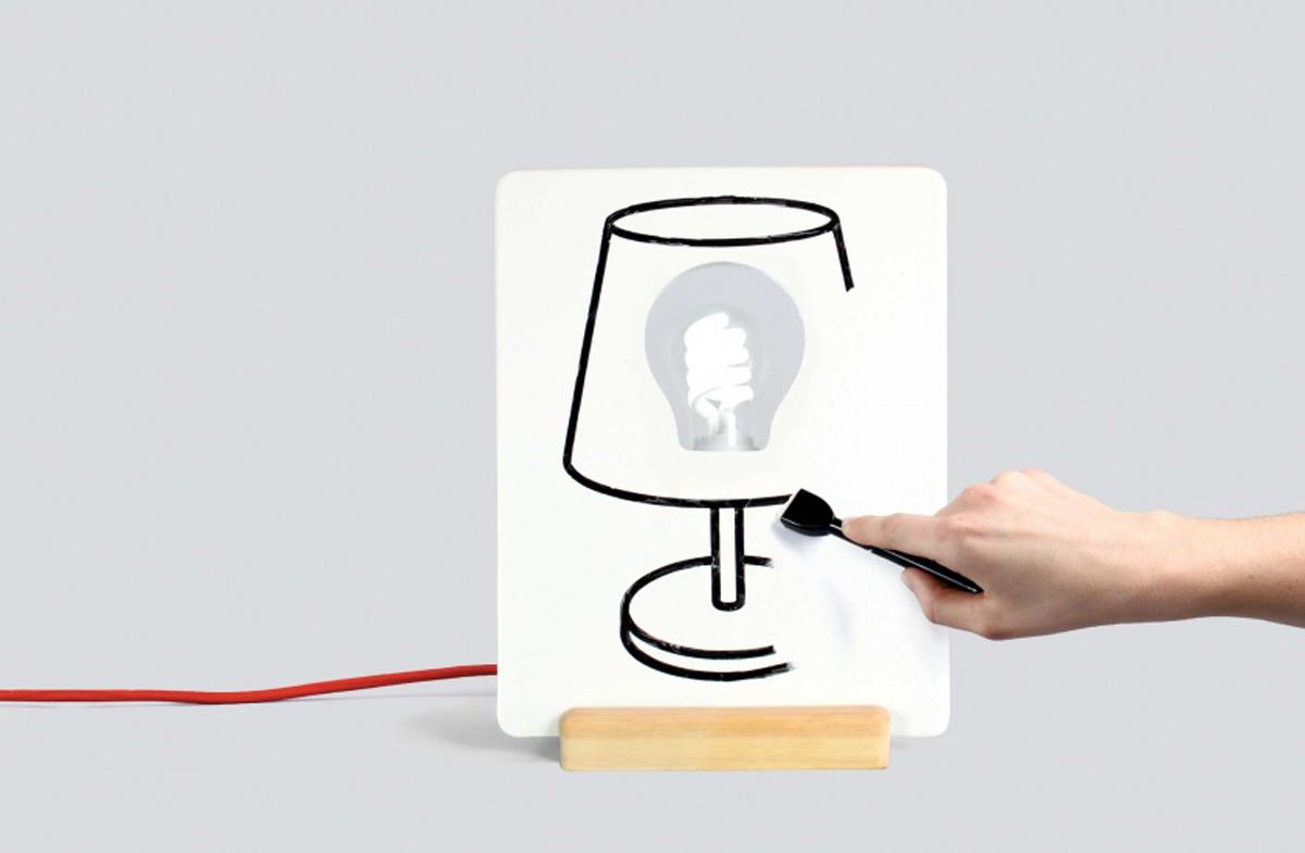 Drawlamp: la única lámpara sobre la que puedes pintar