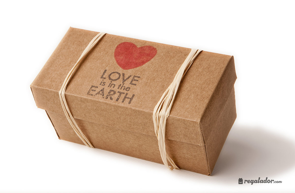Caja «Love is the Earth» para jardineros románticos