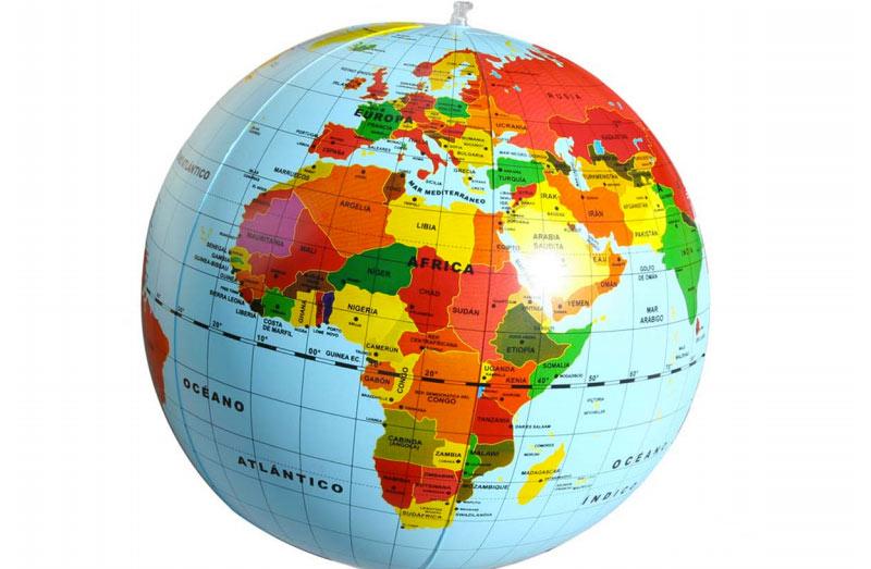 Imagen del globo terraqueo con nombres - Imagui