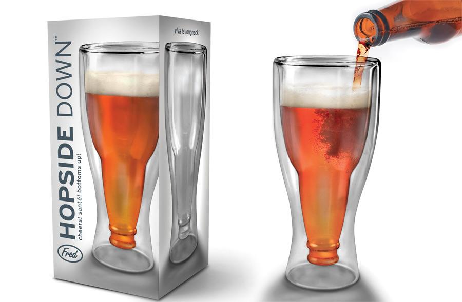 Vaso de cristal con forma de botella de cerveza - Vasos grandes cristal ...