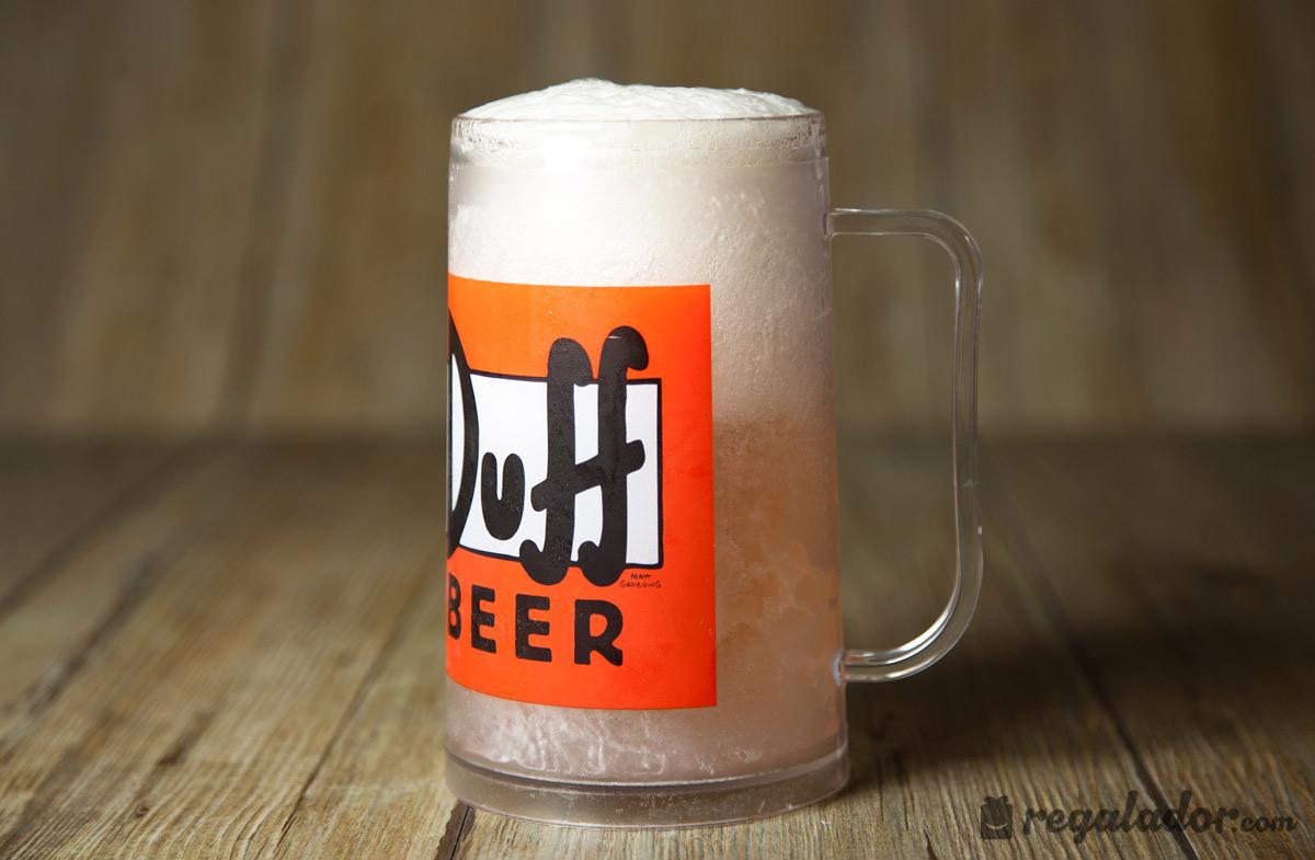 Jarra de cerveza duff beer de los simpson para congelar en for Jarras para cerveza