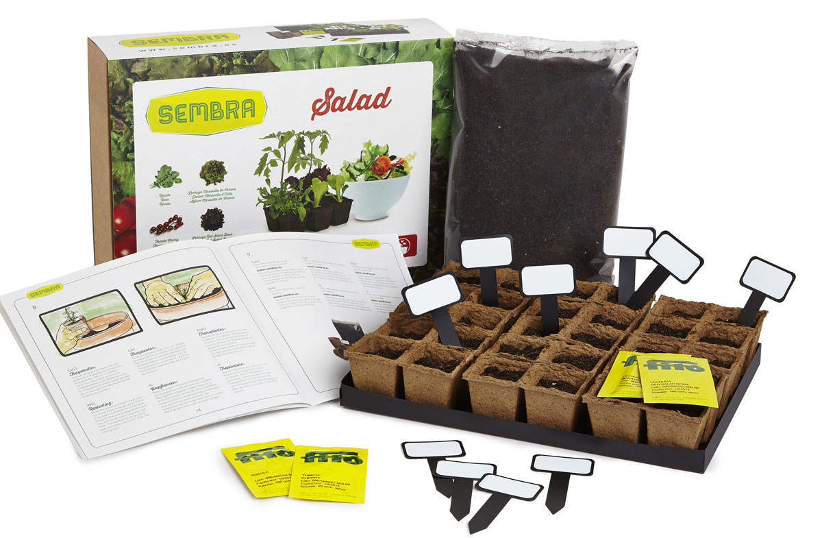 Kit para cultivar tus propios ingredientes culinarios en for Kit de cultivo de interior