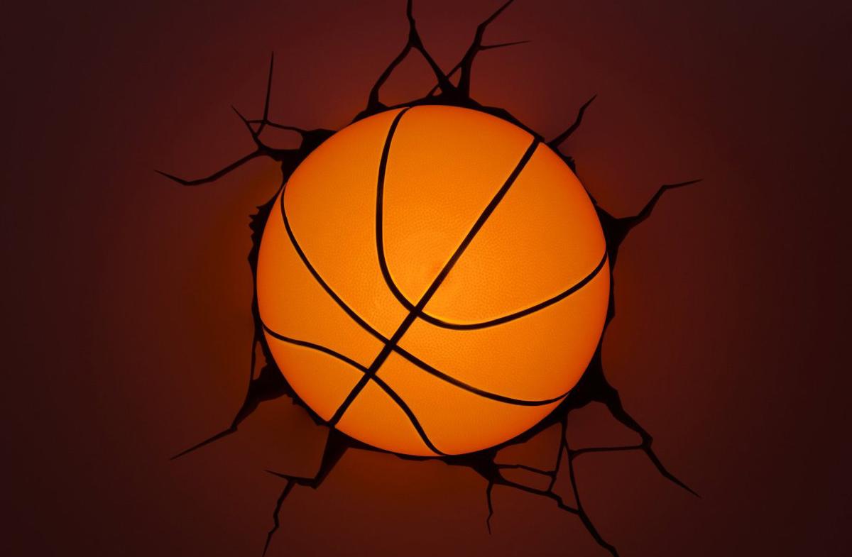 L mpara 3d con forma de bal n de baloncesto en - Lamparas y apliques de pared ...