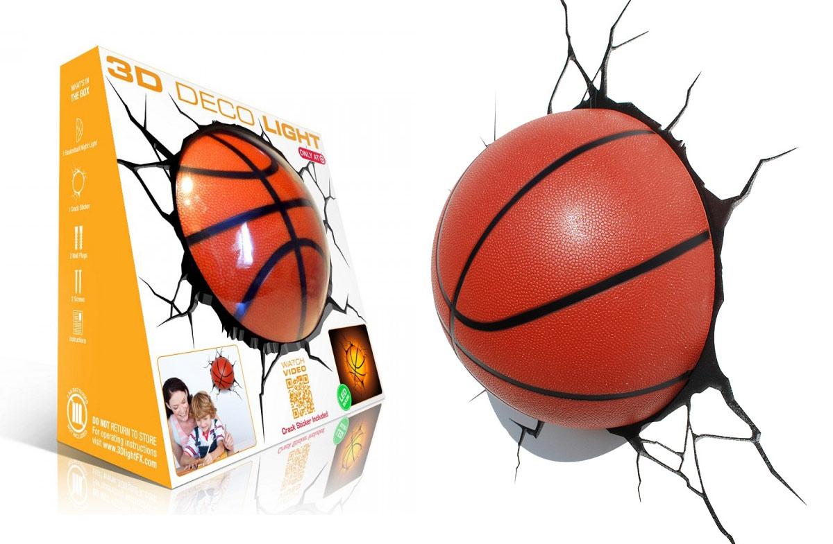 Lámpara 3D con forma de balón de baloncesto en Regalador.com