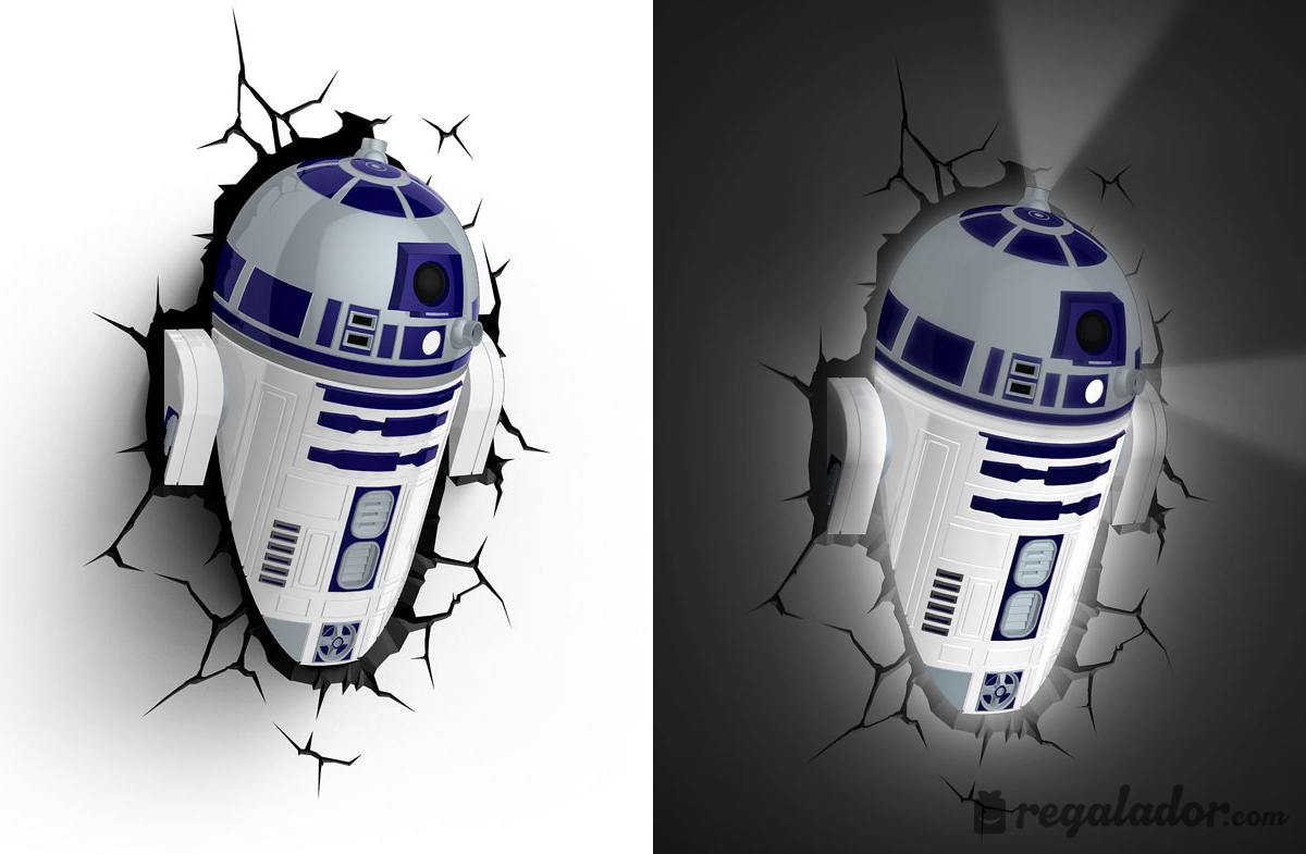Lampara 3d Star Wars R2d2 En Regalador Com