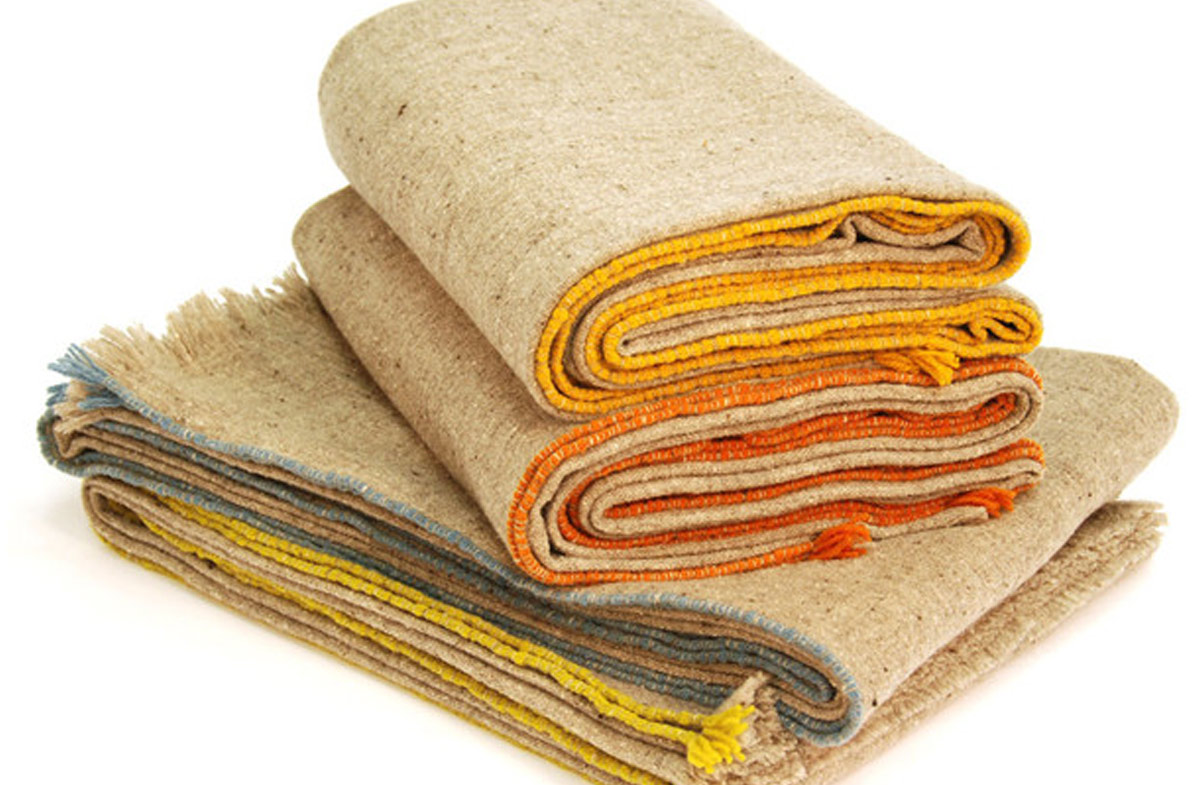 Manta de lana merina artesanales by teixidors en for Mantas de lana hechas a mano