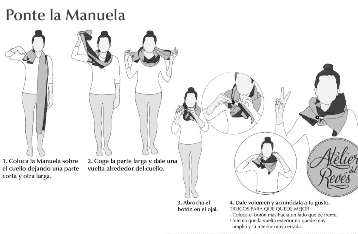 """""""Manuelas"""": el pañuelo reversible más original"""