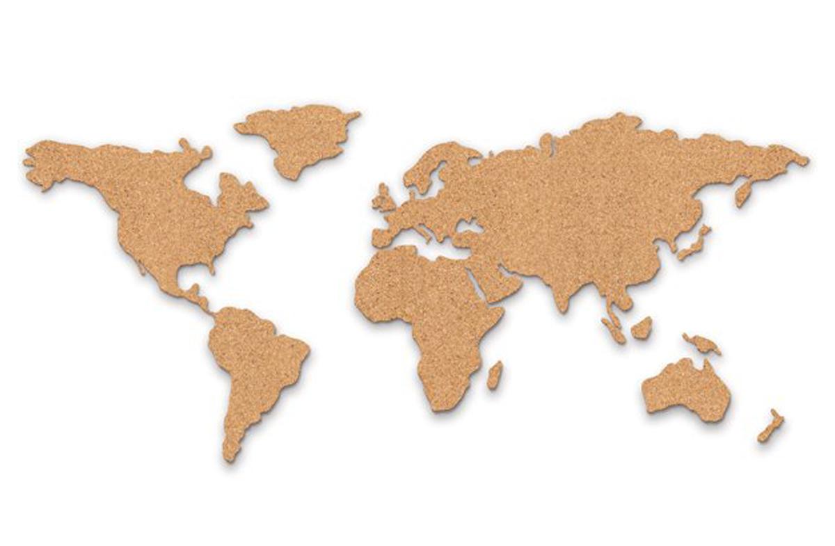 Mapa de corcho silueteado - Mapa de corcho ...