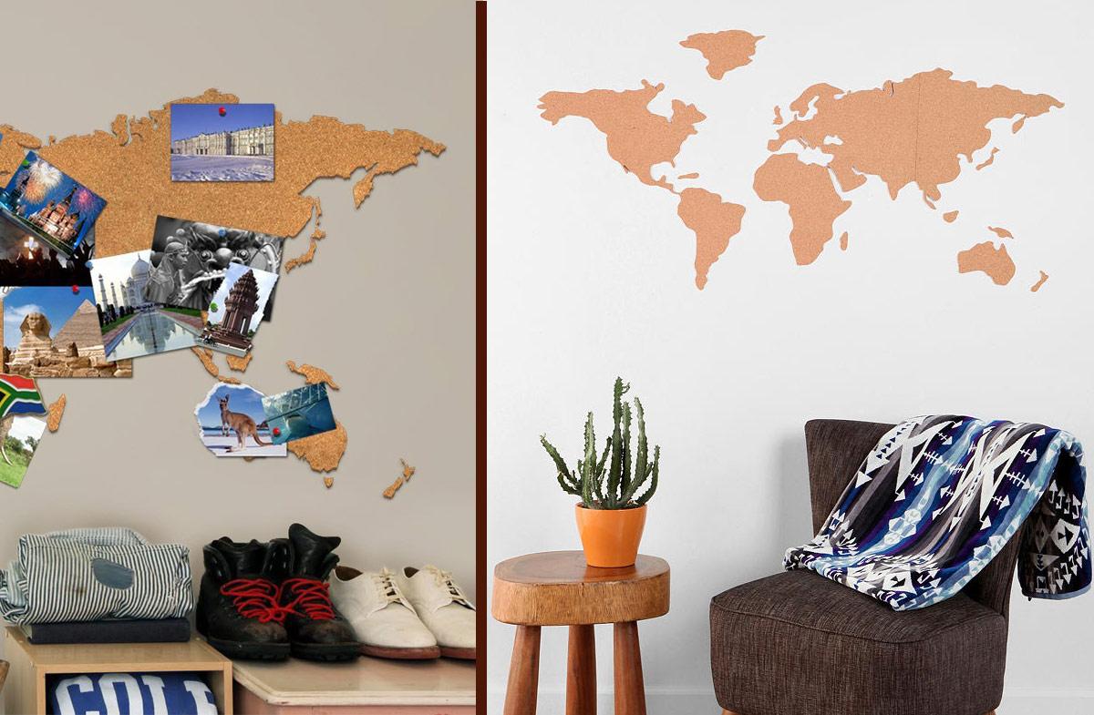 Regalador mapa de corcho silueteado - Mapa de corcho ...