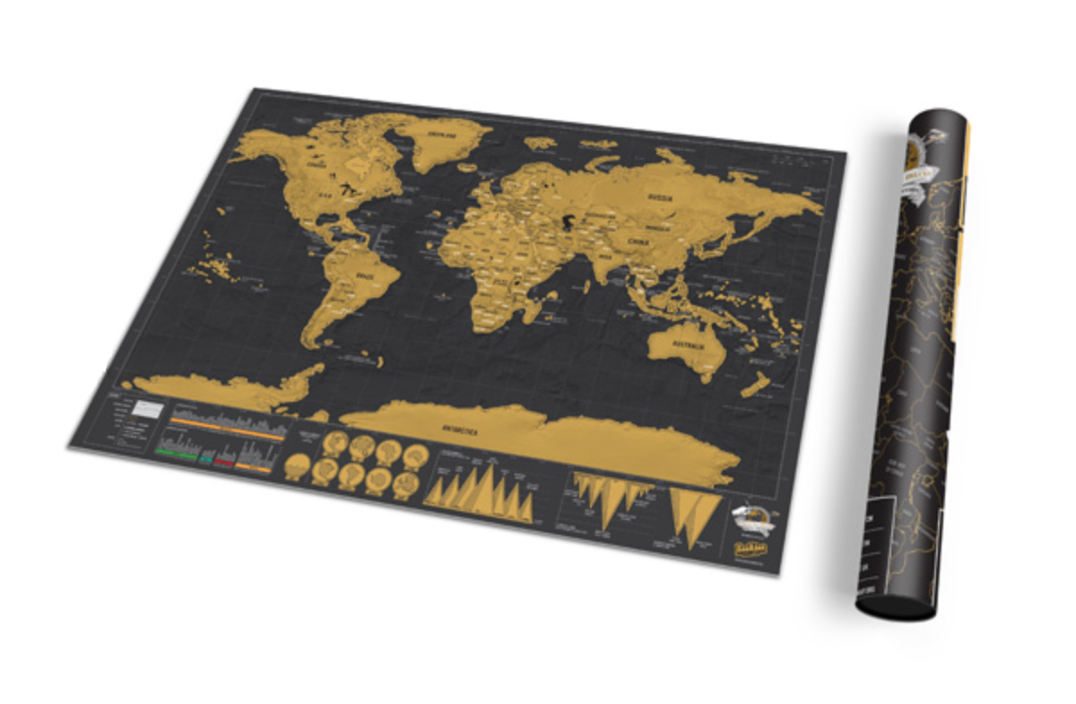 Mapamundi para rascar los países visitados edición Deluxe