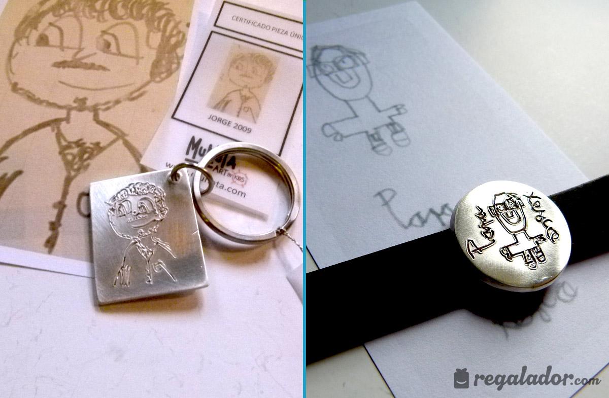 Joyas de plata personalizadas con el dibujo de tus peques en ...
