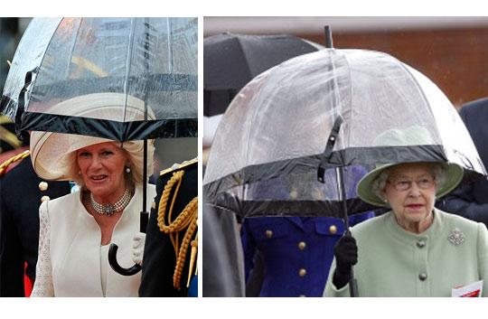 Paraguas transparentes Fulton: los de la Casa Real Británica