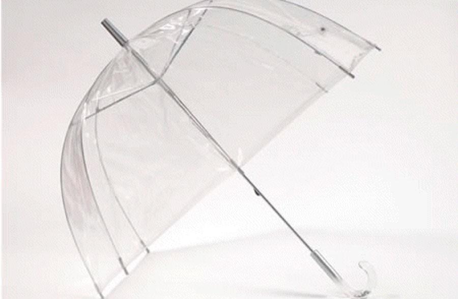 Paraguas transparente con forma de cúpula en Regalador.com