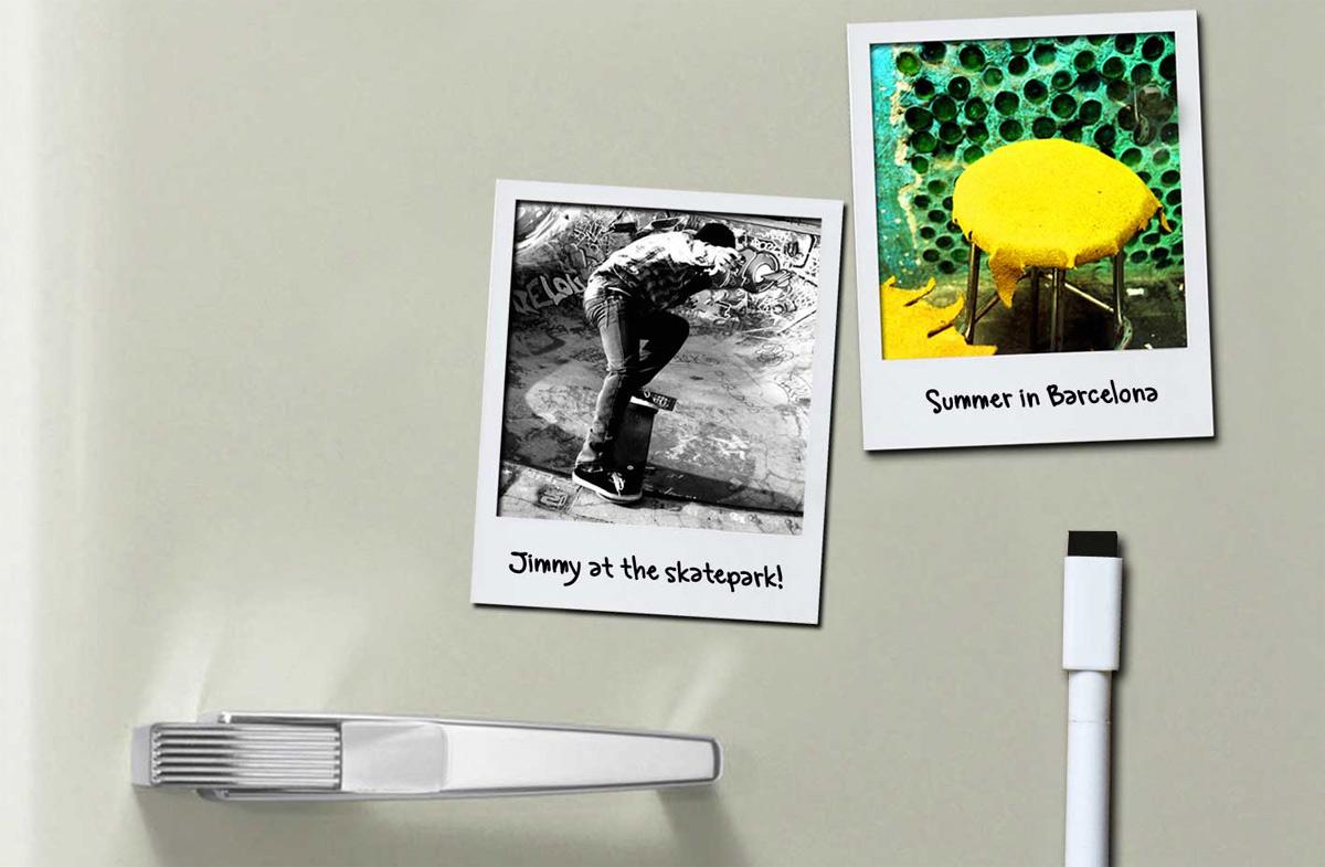 Polaframes: marcos magnéticos para convertir fotos en Polaroids en ...