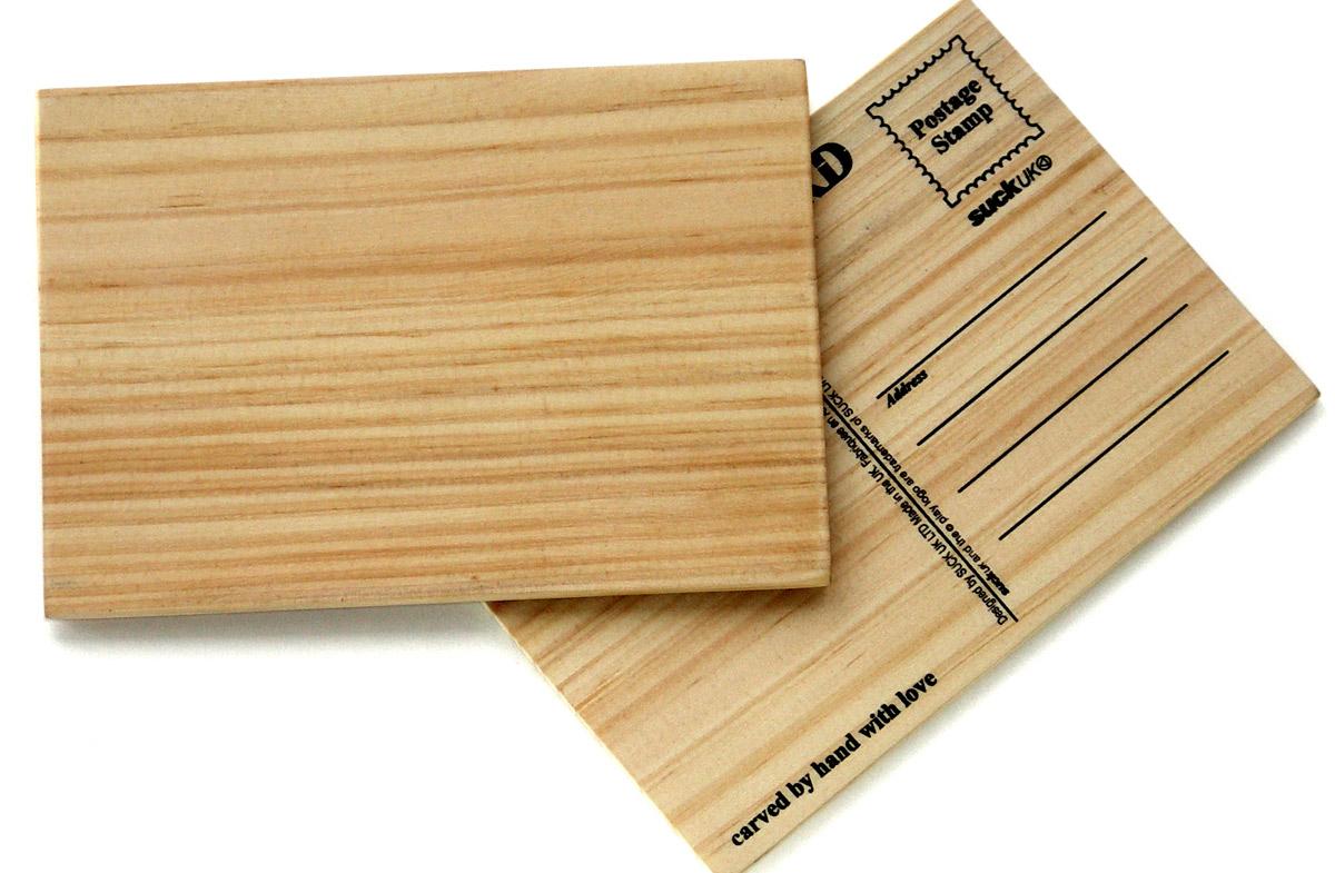 Postal de madera en - Fotos en madera ...