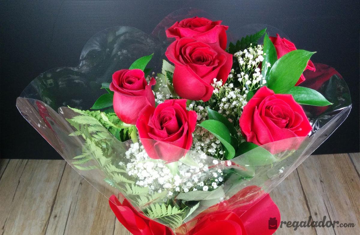 Ramo de rosas rojas para enamorar en - Como secar un ramo de rosas ...