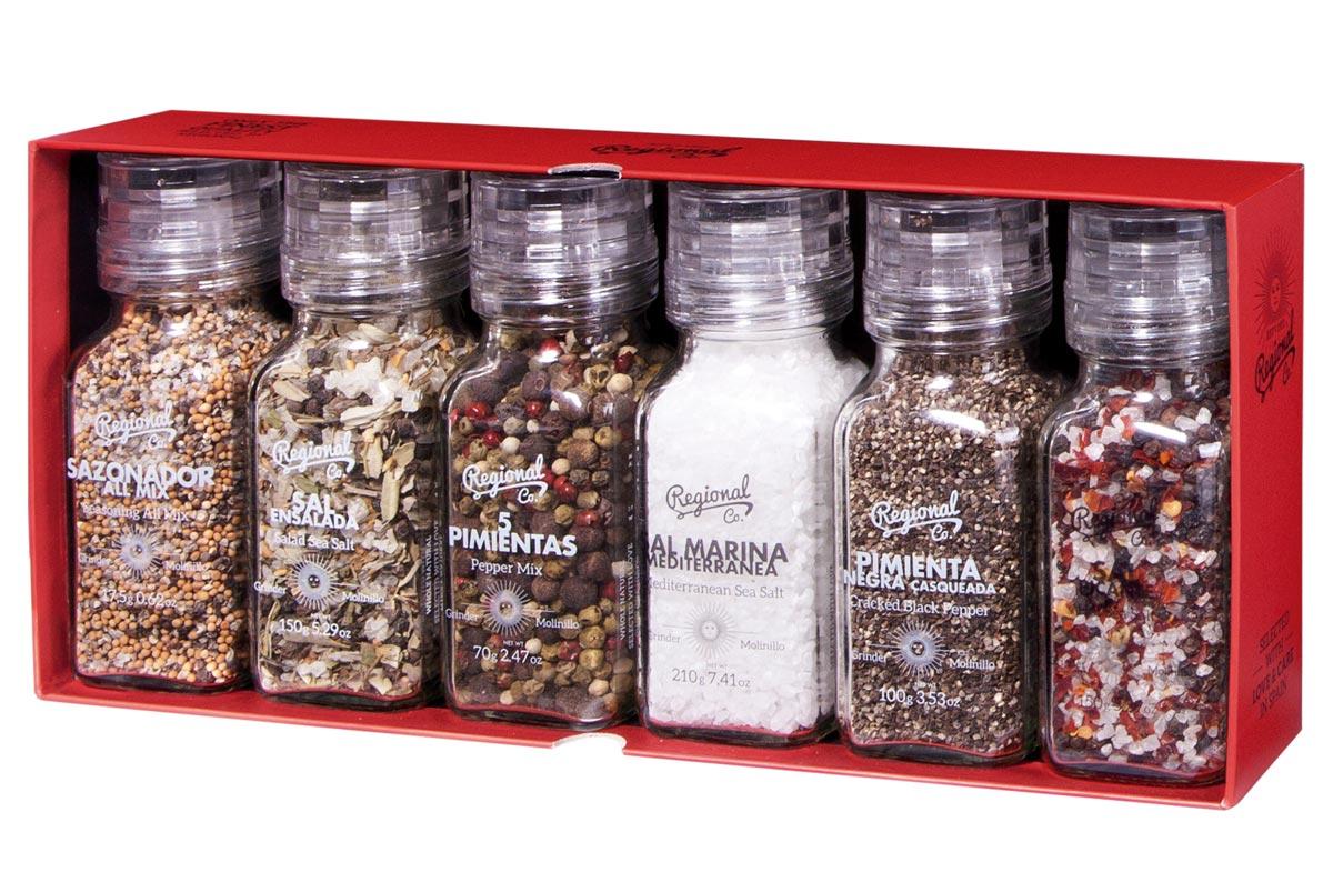 Pack de sales y especias premium para gourmets en Regalador.com