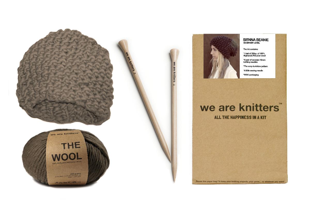 Kit de costura para tejer tu gorro de lana en Regalador.com