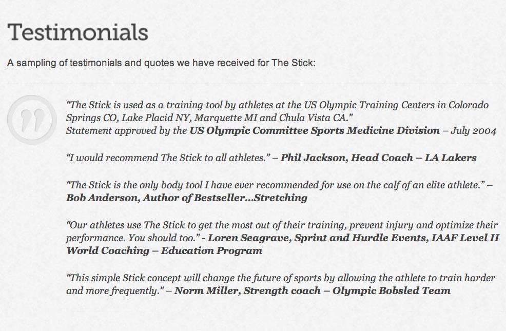 The Stick: La solución mágica para los deportistas