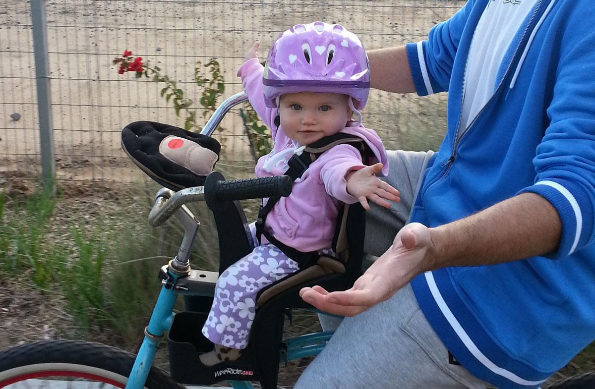 Weeride la mejor sillita delantera para la bici en for Sillas para que coman los bebes