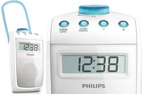 Radio Philips para cantar bajo la ducha