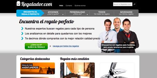 Una de las primeras versiones de Regalador.com
