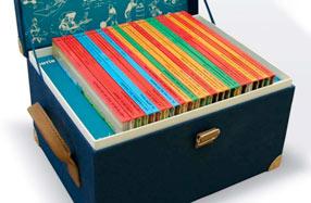 Cofre con la colección completa de las aventuras de Tintín