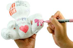 Osito de peluche de papel personalizable