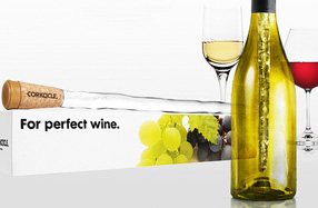 Corkcicle: el tapón de corcho que enfría el vino