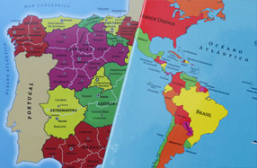 Mapa puzzle de España y del mundo