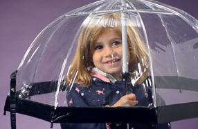 Fulton: Los paraguas transparentes más fashion para niños