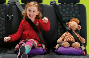 Alzador hinchable de coche para niños 'BubbleBum'