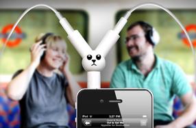 Conector doble para compartir música