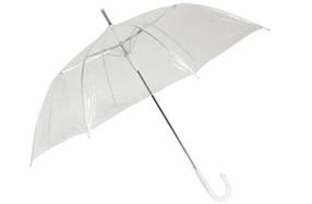Paraguas transparente con forma plana