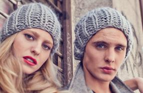 "Kit ""We are knitters"" de pareja para tejer dos gorros de lana"