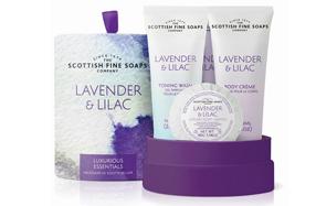 Tambor de cosmética de lujo de Scottish Fine Soaps