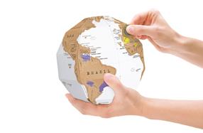 Globo terráqueo para rascar los países donde has viajado