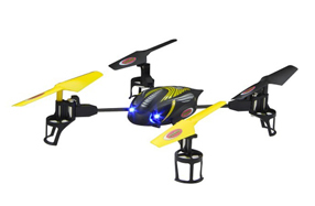 Quadrucóptero Q-Drohne con cámara de vídeo