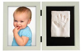 Marco con la huella y la foto de tu bebé de Kidzzcast