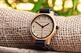 El reloj de bambú ecológico que triunfa entre hombres