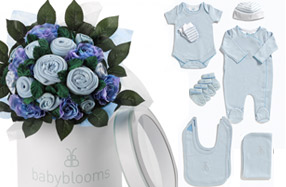 """Bouquet de ropita para bebé: versión """"luxury baby"""""""