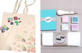 Kit de carvado de sellos y estampación textil