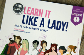 """Learn it like a lady!"" de Vaughan. Inglés para mujeres"