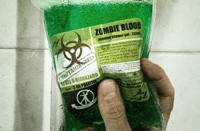 Gel de ducha o sangre zombie
